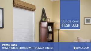 Roman Shade Blackout Liner Woven Wood Shades With Privacy Liners Fresh Look U0026raquo Blinds