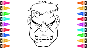draw incredible hulk coloring pages kids learn