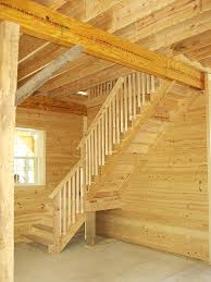 loft stair design for 12 high walls when barn is built with