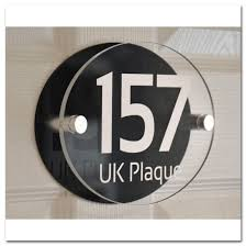 plaque alu decorative oval double paste white text effect modern design personalised