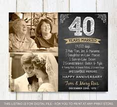 40 year anniversary gift ideas best 25 40th anniversary gifts ideas on 40th wedding