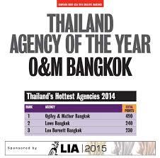 cb asia creative rankings 2014 o u0026m bangkok named creative agency
