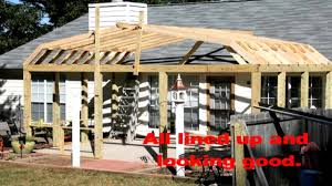 Building A Gambrel Roof by Gambrel Roof On Screen Porch Youtube