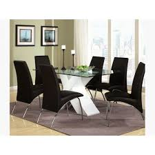 Piece Dining Set With Glass Top X Table - Dining room sets miami