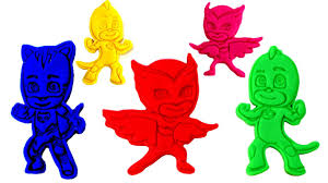 pj masks play doh learn colors toy microwave catboy owlette gekko