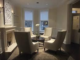 circular furniture arrangement transitional living room carr
