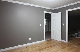 grey walls white trim i think i like that leave the ceiling