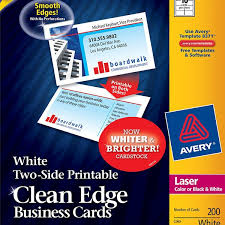 Avery Laser Business Cards Avery Two Side Printable Clean Edge Business Cards 5871 Avery