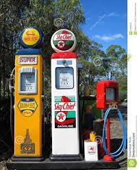 pompe essence vintage vintage de station de pompage d u0027essence image éditorial image