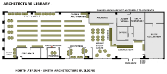 library floor plan of architecture and engineering