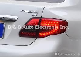 2010 toyota corolla brake light bulb brand new led rear lights led back lights led tail lights for toyota