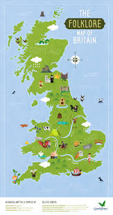 Map Of Britian Center Parcs U2013 Interactive Folklore Map U2013 News By Design