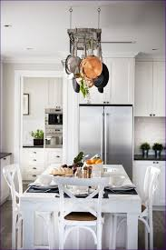 Hanging Pot Rack In Cabinet by Kitchen Room Hanging Pans On Wall Round Hanging Pot Rack Shelves