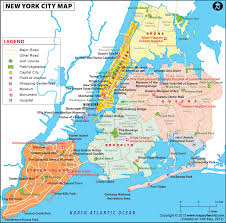 map of nyc map of nyc areas major tourist attractions maps