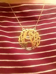Single Initial Monogram Necklace Alison U0026 Ivy Initials In A Monogram Necklace Paperblog