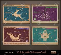 vintage collection of chipboard cards two colors cards