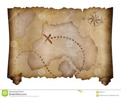 Blank Treasure Map by Old Pirates Treasure Map Scroll Stock Photo Image 68051517
