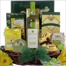 gourmet gift baskets easter pinot grigio wine gourmet gift basket