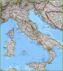 Map Of Naples Italy by Large Detailed Map Of Italy With Cities And Towns