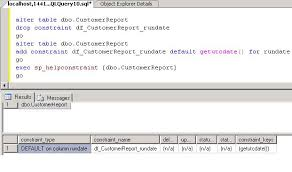 Alter Table Change Column Name Working With Default Constraints In Sql Server