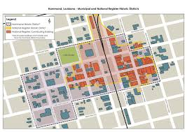 New Orleans District Map by Hammond Historic District Walking Tour Clio