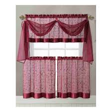 amazon com vine embroidered kitchen window curtain set 1 valance