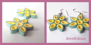 tutorial quilling flower quilled flower earrings tutorial