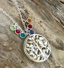 personalized mothers day necklace mothers day gift birthstone necklace sterling silver