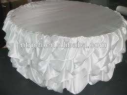 luxurious satin table skirting designs for wedding gathered table