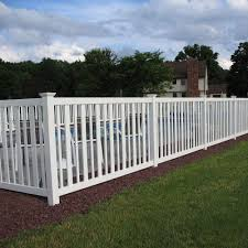 craftsman style vinyl fence home design and decoration