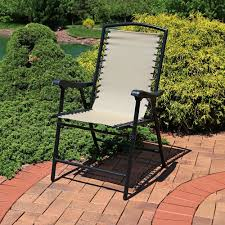 Outdoor Lounge Chair Sunnydaze Mesh Outdoor Suspension Folding Patio Lounge Chair