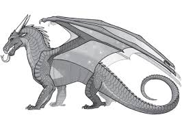 wings fire nightwing dragon coloring free printable