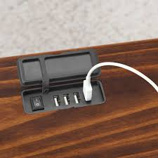Bedside Charging Station The Charging Nightstand Hammacher Schlemmer