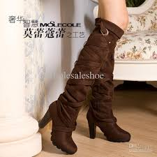 cheap womens boots womens fashion knee boots high heels suede winter boot