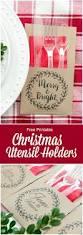 free printable christmas utensil holder utensils and diy christmas