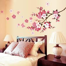 Poster Wallpaper For Bedrooms Aliexpress Com Buy Beautiful Sakura Wall Stickers Flower Peach