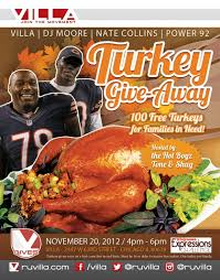 villa chicago launches turkey giveaway