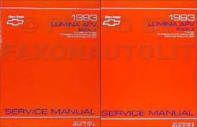 1993 chevy lumina apv minivan repair shop manual original 2 vol set