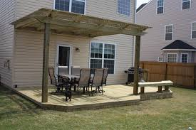 Back Porch Awning Deck Extraordinary Pressure Treated Wood Deck Pressure Treated