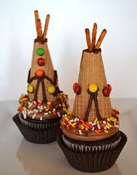 teepee cupcake toppers edible crafts thanksgiving and yum yum
