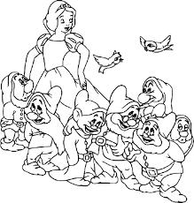 Coloriage Blanche Neige 7 nains à imprimer sur COLORIAGES info