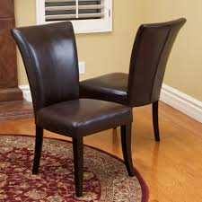 Colored Dining Room Chairs Dining Room Exquisite Brown Leather Dining Room Chairs Brown