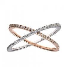 diamond x ring 18k white gold diamond x ring h l gross jewelers garden