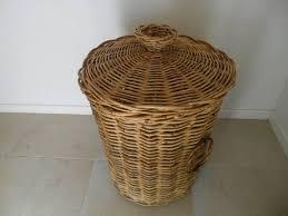 cane laundry hamper round purple laundry basket wicker furniture purple laundry