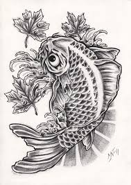 Black And Grey Koi Carp - 30 koi fish designs with meanings