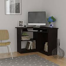 Corner Computer Desk Essential Home Corner Computer Desk Espresso