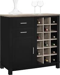 Mini Bar Furniture by Amazon Com Altra Furniture Carver Bar Cabinet Black Sonoma Oak