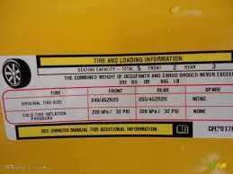 2012 dodge challenger srt8 yellow jacket info tag photo 61393789
