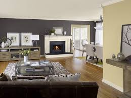 house best family room accent wall colors with fireplace and