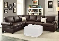 Corner Sectional Sofas by Poundex F7770 2 Pcs Espresso Bonded Leather Reversible Sectional